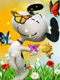 Snoopy - Very happy birthday in this new year of life, that has a lot of health and the love of the family. Good Morning Snoopy, Cute Good Morning Quotes, Good Morning Gif, Good Morning Greetings, Good Morning Smiley, Funny Morning, Monday Morning, Snoopy Song, Snoopy Happy Dance