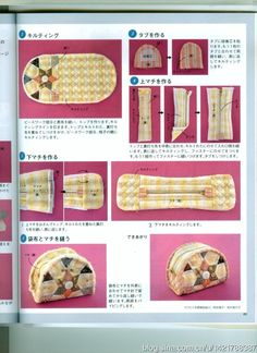 New Sewing Tutorials Wallet Bag Patterns Ideas Japanese Patchwork, Patchwork Bags, Quilted Bag, Patchwork Patterns, Diy Bags Patterns, Pouch Pattern, Diy Purse, Fabric Bags, Zipper Bags