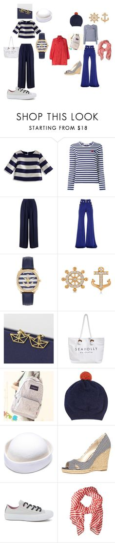 """""""Sea"""" by tancho-cts on Polyvore featuring мода, Chicwish, Play Comme des Garçons, Miss Selfridge, Balmain, Allurez, Gama, Seafolly, Canvas Love и Jigsaw"""