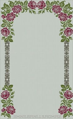 Cross Stitch Borders, Cross Stitch Flowers, Cross Stitch Patterns, Floral Tie, Needlework, Diy And Crafts, Sewing Projects, Bargello, Crochet