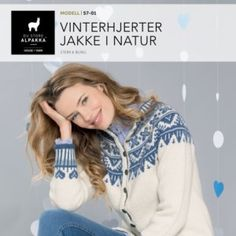 Vinterhjerter jakke i natur Knit Jacket, Vests, Barn, Graphic Sweatshirt, Knitting, Sweatshirts, Sweaters, Fashion, Scale Model