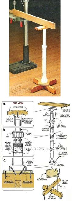 DIY Work Support Stand - Drill Press Tips, Jigs and Fixtures | WoodArchivist.com