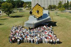 JWST Full-scale model at NASA Goddard