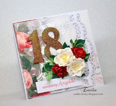 Emilia tworzy: Kartka urodzinowa na 18 urodziny/Birthday card