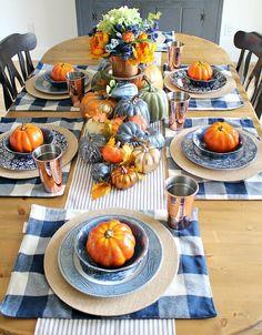 Fall Table Settings, Thanksgiving Table Settings, Thanksgiving Tablescapes, Thanksgiving Decorations, Seasonal Decor, Table Decorations, Centerpieces, Centerpiece Ideas, Thanksgiving Ideas
