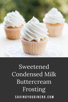 Homemade Buttercream Icing, Cake Frosting Recipe, Vanilla Cake Icing Recipe, Thick Frosting Recipe, Köstliche Desserts, Delicious Desserts, Dessert Recipes, Icing Recipes, Homemade Frosting Recipes