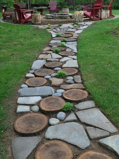 Our path to the fire pit
