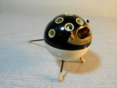 Vintage Mid Century Modern atomic blowfish cigarette holder.