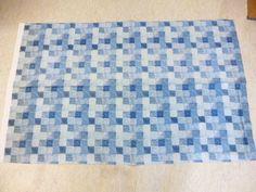 "Marimekko Finland, Fujiwo Ishimoto ""Linnunpesä"" VIntage Fabric from 1982 -Blue #Marimekko"