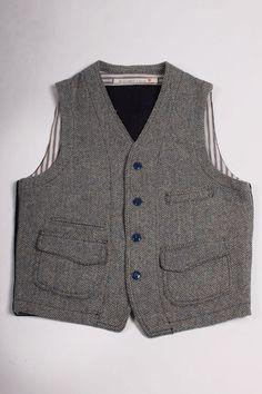 Scarti-Lab Waistcoat 403-SE222 Harris Tweed