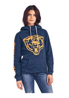 Chicago Bears Womens Navy Blue Sunday Hoodie Chicago Bears Gear, Chicago Bears Women, Cowl Neck Hoodie, Pullover, Hooded Sweatshirts, Hoodies, Chicago Shopping, Junk Food Clothing, Navy Women