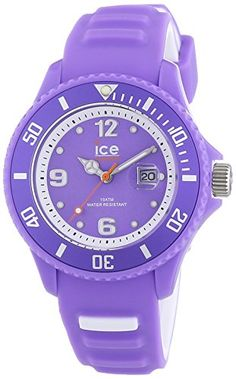 Ice-Watch Damen-Armbanduhr Sunshine Neon Violet Analog Quarz Silikon SUN.NVT.S.S.14 - http://uhr.haus/ice-watch/ice-watch-damen-armbanduhr-sunshine-neon-violet-s