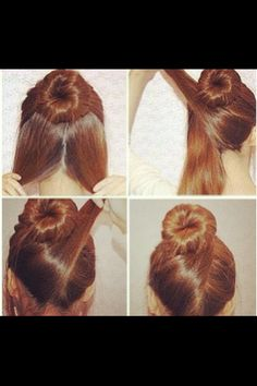 different way to style the donut/sock bun