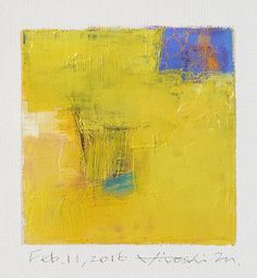 Feb. 11, 2016 - Original Abstract Oil Painting - 9x9 painting (9 x 9 cm - app. 4 x 4 inch) with 8 x 10 inch mat