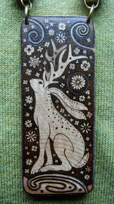 ENCHANTED-ART......Visionary and Spiritual Artworks: My latest Pyrography Jewellery designs
