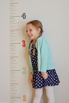 8 Inch Washi - Interactive Growth Chart - DIY Decor Tape - Hazel & Ruby