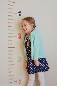 8 Inch Washi - Interactive Growth Chart - DIY Decor Tape - Hazel & Ruby