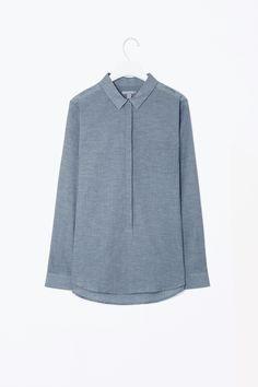 Sheer melange shirt
