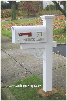 mailbox - like the address and swirly under part