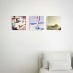 """IBIZA style, ART photography & photo DESIGN by romel janeski """"It's all about lifting up your senses"""" set of 3 photos retro style canvas plot cm limited edition"""