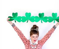 Hey if you're decorating for St. Patrick's Day, you might as well go big with these DIY Giant Shamrock Streamers.