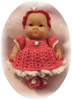 Layered Dress for an 8 inch baby doll.