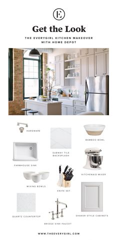 Get the Look: The Everygirl Office Kitchen Makeover with The Home Depot