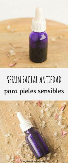 Receta Serum Facial Antiedad Piel Sensible #cosmeticacasera #cosmeticanatural #recetascosmeticacaseraE