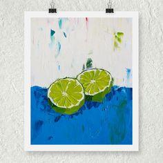 Kitchen Prints, Lime Green Decor, Original Oil Painting Still Life, Light Blue Decor, Fine Art Giclee Print, Lime Fruit, Bright Wall Art von ebuchmann auf Etsy https://www.etsy.com/de/listing/226229947/kitchen-prints-lime-green-decor-original
