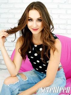 Photo from Troian's Seventeen Magazine cover story!