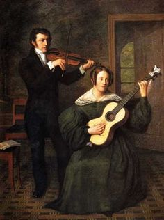 ♪ The Musical Arts ♪ music musician paintings - Cornelis Bernudes Buys | The duo