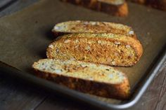 These vanilla almond flavored gluten free biscotti are twice-baked in the classic style. The result is the crispy, crunchy perfection we expect of only the very best biscotti. And they're even easier to make than drop cookies! Gluten Free Bakery, Gluten Free Treats, Paleo Treats, Gluten Free Cookies, No Bake Cookies, Gluten Free Desserts, Drop Cookies, Egg Free Recipes, Baking Recipes