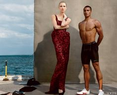 Vogue June 2012 Olympic Athlete Issue  Decathalete Ashton Eaton and Karlie Kloss