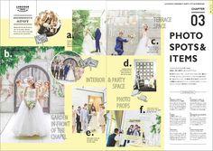 ウエディングパンフレット Wedding Album, Wedding Book, Wedding Paper, Editorial Layout, Editorial Design, Leaflet Layout, Space Photos, Type Setting, Magazine Design