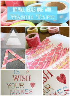 A detailed tutorial for how to create your own washi tape wall decals! One of the best washi tape ideas out there!