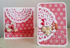 Card set featuring Couture Creations Ornamental Lace Dies : Moulin Rouge