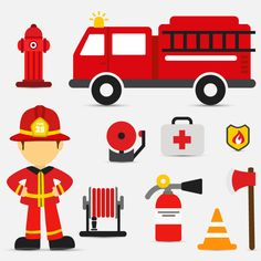 10 paragraph fire element icon vector material