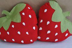 Felt Strawberry Picnic Pillow DIY PDF Pattern. $6.00, via Etsy.