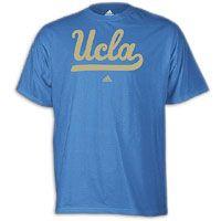 adidas College Logo T-Shirt - Men's - UCLA Bruins - Light Blue / Tan