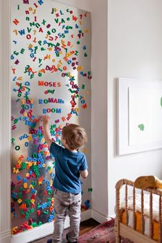 Magnetic wall for playroom
