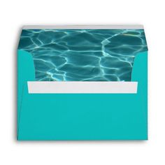 Swimming Pool Envelopes. We need these. Also, idea for new business card design. Fade in background with clean white embossed lettering.