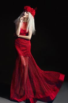 Umit Kutluk Winter Holiday Season Collection by Marina Danilova, via Behance 2010s Fashion, Red Fashion, Fashion Shoot, Nirvana, Red Lace, Lady In Red, Editorial Fashion, Dress Up, Lace Dress