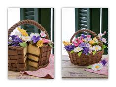 Flower Basket Cake on Cake Central Flower Basket Cake, Flower Pot Cake, Flower Cupcakes, Cake Basket, Basket Quilt, Flower Pots, Pretty Cakes, Cute Cakes, Beautiful Cakes