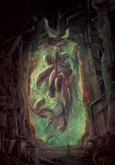 Hp Lovecraft, Lovecraft Cthulhu, Cthulhu Art, Call Of Cthulhu, Arte Horror, Horror Art, Dark Fantasy Art, Dark Art, Dcc Rpg