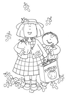 Free Dearie Dolls Digi Stamps: Pumpkin Shopping