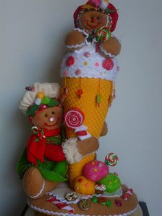 cono Christmas Gingerbread, Felt Christmas, Christmas Crafts, Merry Christmas, Christmas Decorations, Xmas, Christmas Ornaments, Holiday Decor, Projects To Try