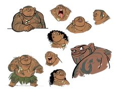 Moana (2016) | character designs by Jin Kim and Bill Schwab (x)