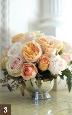 pearl and rose centerpieces | garden rose centerpiece lush romantic centerpiece designed by haute ...