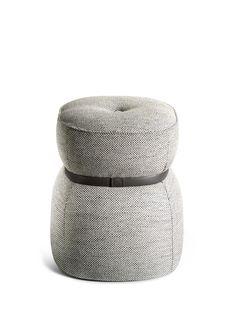 LEPLI Fabric stool THE COLLECTION - Sofa and Armchairs Collection by Poltrona Frau design Kensaku Oshiro