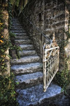 Hidden staircase in Eureka Springs--Makes me think of many happy vacations there with the family